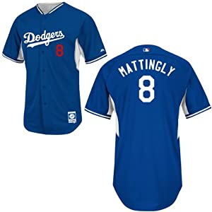 Don Mattingly Los Angeles Dodgers Royal Batting Practice Jersey by Majestic by Majestic