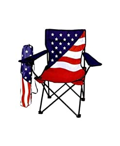 American Flag Camping Chair - Folding Chair by Emuna Gifts