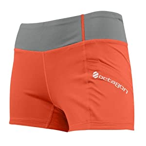 UFC Women's Octagon Kinetic Training Shorts, Coral Steel, Large