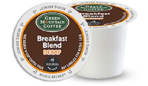 Green Mountain Coffee K-Cups, Breakfast Blend Decaf, 96-Count
