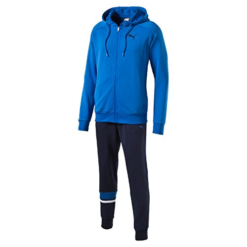 Puma Style Better Sweat Suit Cl Tuta Sportiva - Blu (Rosso Peacoat) - M