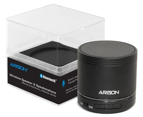 Argon Bluetooth Mini Wireless Portable Rechargeable Speaker For All Iphone, Ipod, Ipad, Blackberry, Android Smartphones And Mp3 Players. Includes Mic, Audio Input Port And Micro Sd Card Slot [Black]