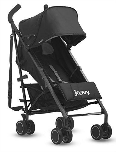 Joovy Groove Ultralight Umbrella Stroller, Triple Black