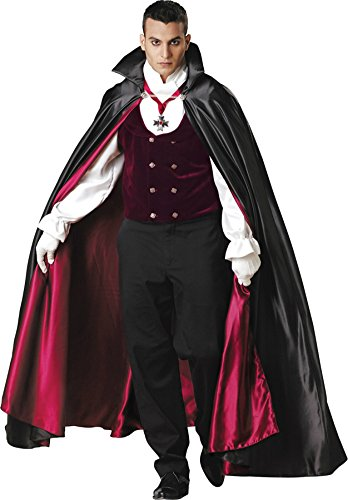 Incharacter Mens Scary Elite Collection Dracula Gothic Vampire Halloween Costume
