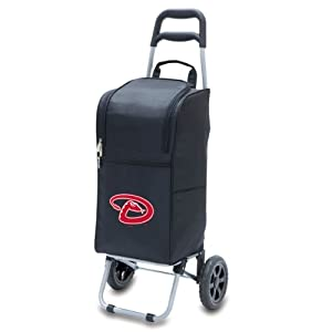 MLB Insulated Cart Cooler with Wheeled Trolley by Picnic Time