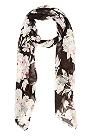 Modal Blend Lightweight Oriental Floral Scarf [T01-5682-S]