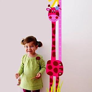 Medidor de altura JIRAFA ROSA de Desconocido - BebeHogar.com