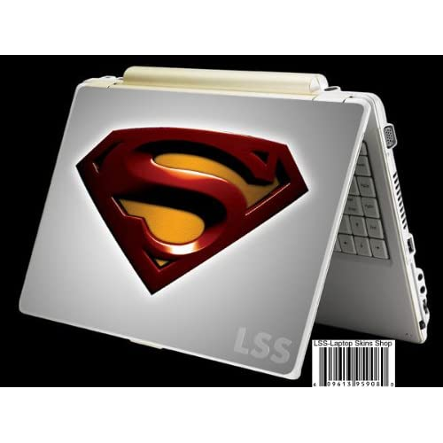 Laptop Skin Shop Laptop Notebook Skin Sticker Cover Art Decal Fits 13.3 14 15.6 16 HP Dell Lenovo Asus Compaq (Free 2 Wrist Pad Included) Red Superman