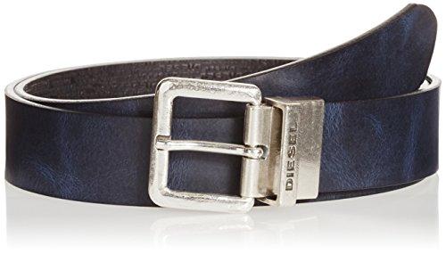 Cintura in pelle reversibile Diesel B-Twin X03968 blu/nero