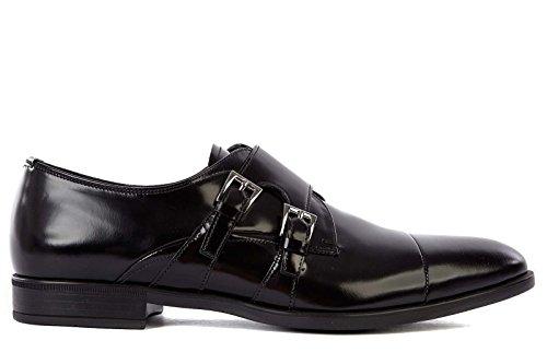 Prada scarpe classiche uomo in pelle nuove monkstrap nero EU 39 2OE016 P39 F0002