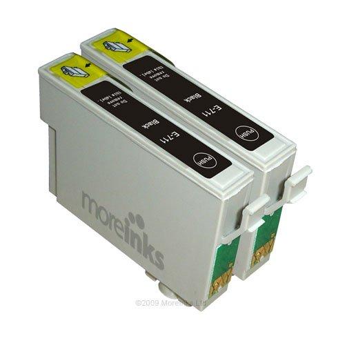 2 Epson Stylus SX515W Kompatible Druckerpatronen Schwarz - PATRONEN MIT NEUESTEN CHIP