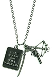 The Walking Dead Keep Calm and Weapons Charm Necklace