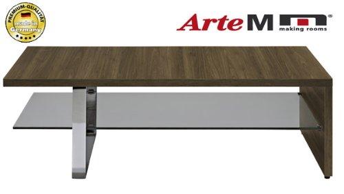 Arte-M-Couchtisch-Wohnzimmertisch-900803-rechteckig-walnuss-Glas