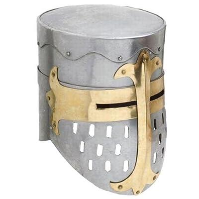 Functional Knights Templar Crusader Helmet Medieval 18 Gauge Steel Armor