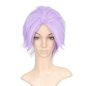 Light Purple Short Length Anime Costume Cosplay Wig