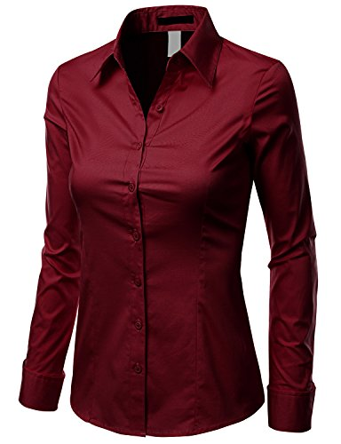 Wonderful Maroon Dress Shirt Women