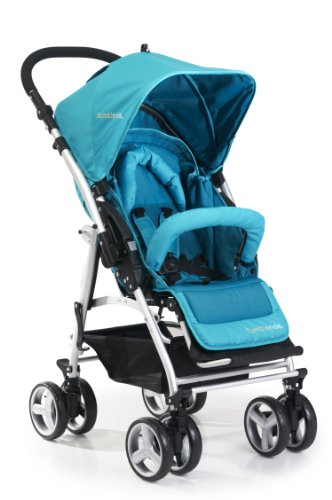 "Bumbleride Flyer Reversible Handle Stroller with 7"" Wheels, Aqua - 1"
