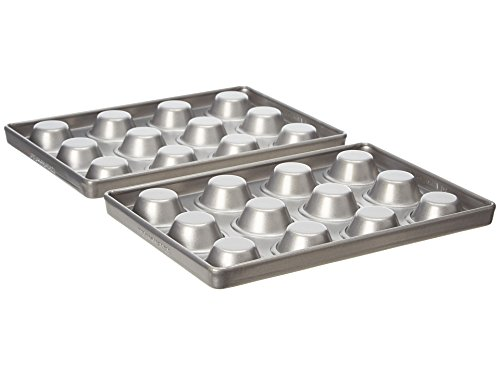 KitchenAid Professional .8mm 12-Cavity Mini Muffin Pan Set of 2 0.8 mm Nonstick Bakeware (Kitchenaid Toaster Oven Pan compare prices)
