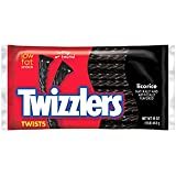 Twizzlers Black Licorice Twists, 16-Ounce (Pack of 3)