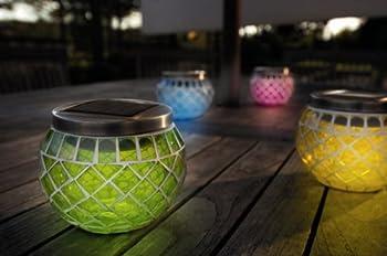 Gardman Cole & Bright Solar Mosaic Lanterns - Pack of 4 - Ornamental Weather.