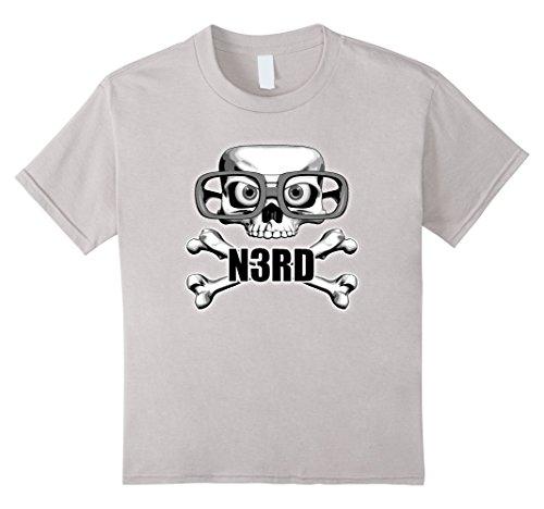 Kids Square Skull T-Shirt Skull and Glasses 4 Silver