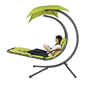 Amazon Com Best Choice Products 174 Hanging Chaise Lounger