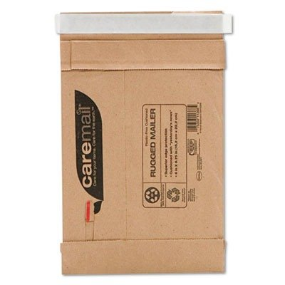 Image of Duck Caremail Brand Recycled Self-Seal Rugged #0 Mailers, Brown Kraft, 6 x 8.75 Inches (1093822) (Pack of 25)
