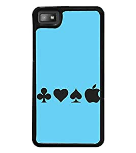 Vizagbeats Apple with playing card symbols Back Case Cover for BLACKBERRY BBZ10