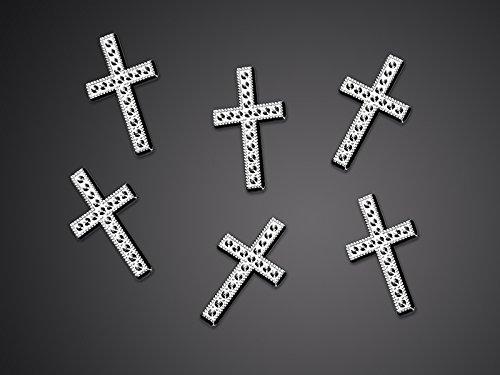 25-Kreuze-Tischdekoration-Streu-Deko-fr-Kommunion-Konfirmation-Taufe
