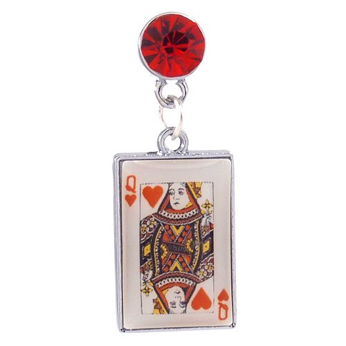 1X Queen Of Hearts Card Dust Proof Dust Plug Iphone Speaker Plug Plugy