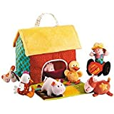 Lilliputiens Soft Toy Farm House and Animals Play Set
