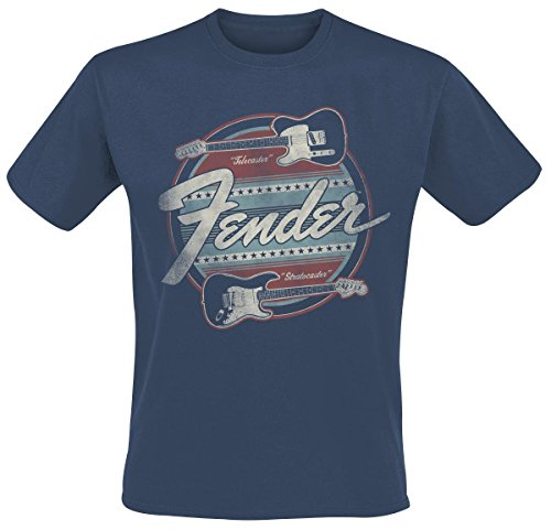 Fender Guitar T-Shirt dark blue