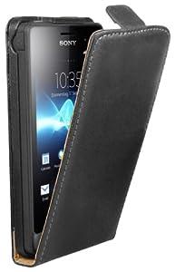 mumbi Flip Case Sony Xperia go Tasche Hülle