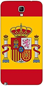 Snoogg Spain Flag 2980 Case Cover For Samsung Galaxy Note Iii Neo / Note 3 Neo