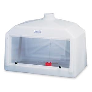 "Bel-Art Scienceware 500000003 Polyethylene Acrylic Large Molded Fume Hood, 42"" Length x 20"" Width x 30"" Height"