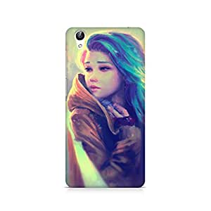 MOBICTURE Girl Abstract Premium Designer Mobile Back Case Cover For Vivo Y51L