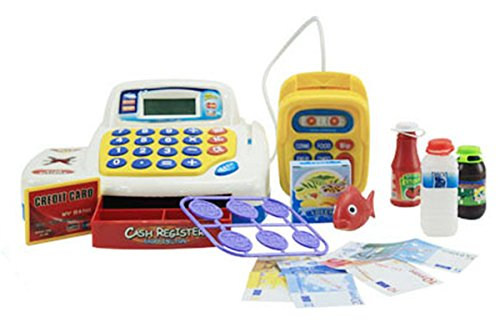 Cheapest Prices! Supermarket Cash Register with Credit Card Machine, Scanner, Calculator, Play Money...