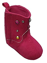 Rising Star Studded Pink Cowgirl Boots Size 9-12 Months [3012]