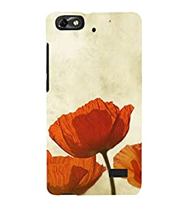 Beautiful Orange Flowers 3D Hard Polycarbonate Designer Back Case Cover for Huawei Honor 4C :: Huawei G Play Mini