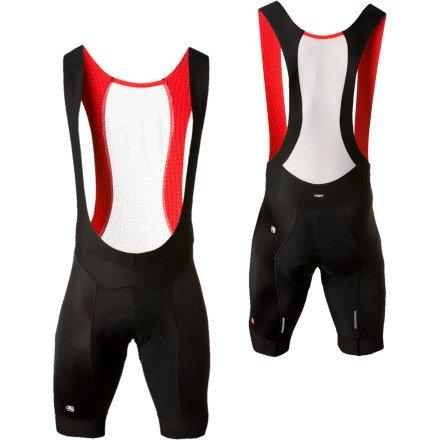 Buy Low Price Giordana FormaRed Carbon Bib Shorts with Chamois (B006TVYCNA)