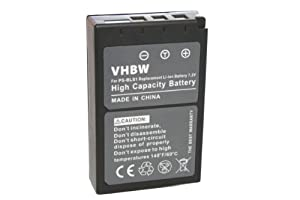 vhbw Li-Ion Akku 900mAh (7.2V) Set für Kamera Olympus PS-BLS1.