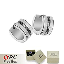 buy Wonderful Dream Opk Jewelry Cool Men Ring Earring Gold And White Men'S Earrings 7Mm 5Pcs/Lot 206 Yjaliearings729