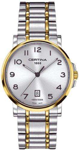Certina Men's Watch XL Analogue Quartz Stainless Steel C017,410,22,032,00