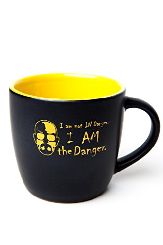 I Am the Danger Black and Yellow Two-toned Ceramic Coffee Mug-- Inspired By Breaking Bad's Walter White