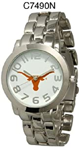NCAA Officially Licensed Texas Longhorns Mens Metal Round-faced Wristband Watch by Time World