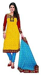 KOMAL ARTS Ethnicwear Women's Dress Material (Yellow_Free Size)