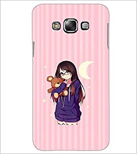 PrintDhaba Teddy Girl D-2357 Back Case Cover for SAMSUNG GALAXY A8 (Multi-Coloured)