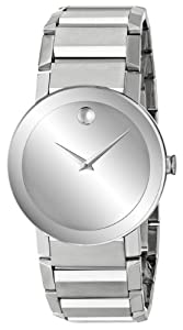 Stainless Steel Sapphire Silver Museum Dial