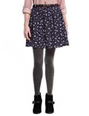 Indigo Collection Bali Floral Mini Skirt with Belt