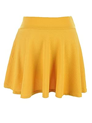 Anna-Kaci Fashion Ladies Candy Color Pleated Flared Mini Skirt Short High Waist Dress